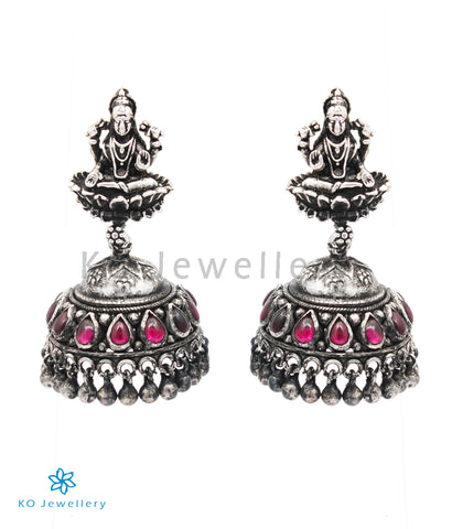 The Avantika Silver Lakshmi Jhumki (Oxidised)