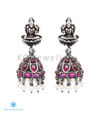 The Shrinika Silver Lakshmi Jhumki (Oxidised)