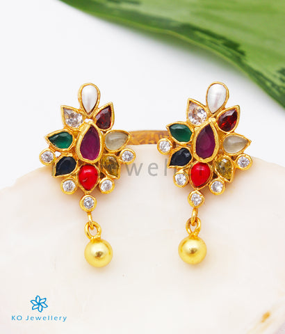 The Aham Silver Navratna Earrings