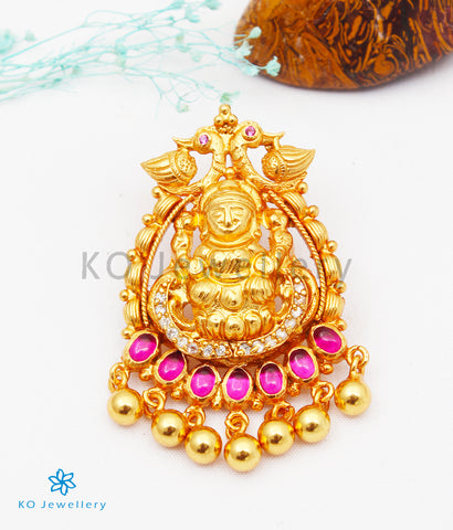 The Harshita Silver Lakshmi Pendant
