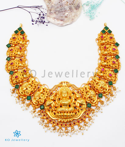 The Anagha Silver Lakshmi Nakkasi Necklace