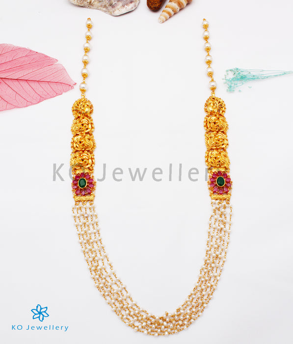 The Kajjara  Silver Layered Pearl Necklace