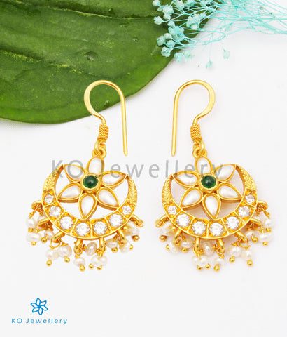 The Sindhura Silver Earrings (Pearl)