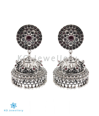 The Sarisha Silver Jhumka