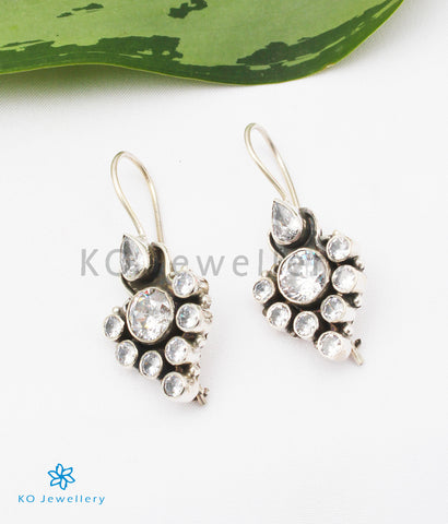 The Tanvi Silver Gemstone Earrings (White)