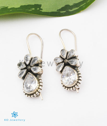 The Nitara Silver Gemstone Earrings (White)