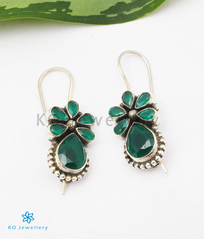 The Nitara Silver Gemstone Earrings (Green)