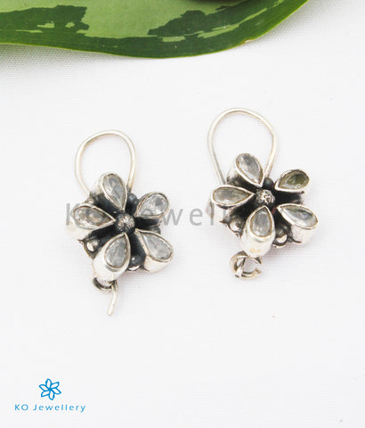 The Arini Silver Gemstone Earrings (White)