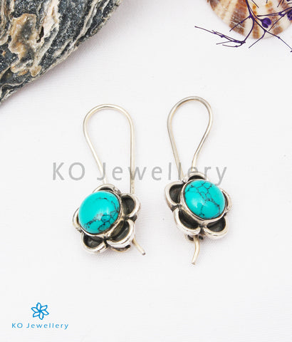The Imaya Silver Gemstone Earrings (Turquoise)