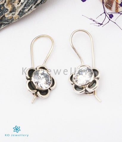 The Imaya Silver Gemstone Earrings (White)