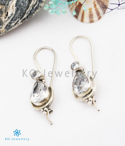 The Kyra Silver Gemstone Earrings (White)
