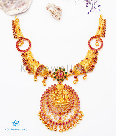 The Harshini Silver Lakshmi Necklace