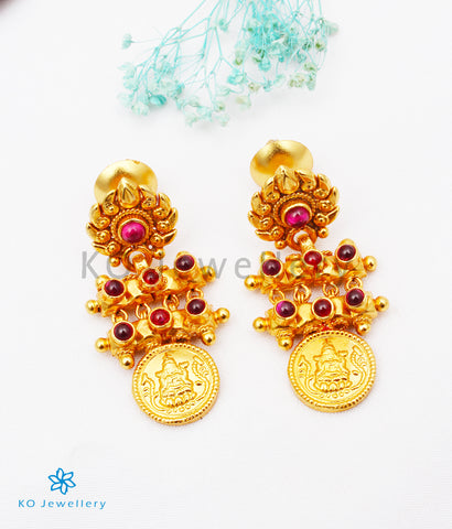The Paramaa Antique Silver Lakshmi Coin Earrings