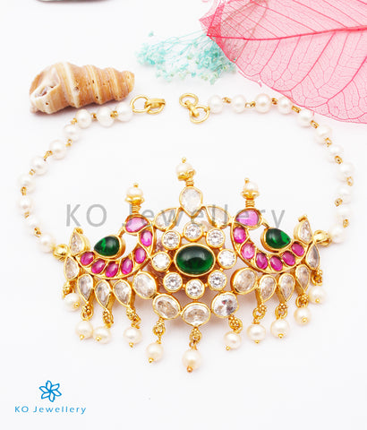 The Tanishka Silver Choker Pearl Necklace/ Vanki
