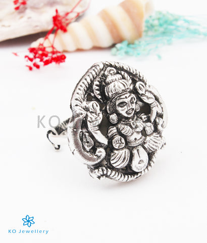 The Shakti Silver Lakshmi Finger Ring