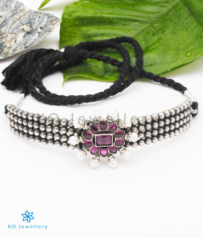 The Akshata Silver Choker Necklace
