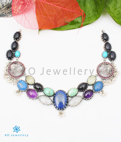 The Lasaka Silver Gemstone Necklace