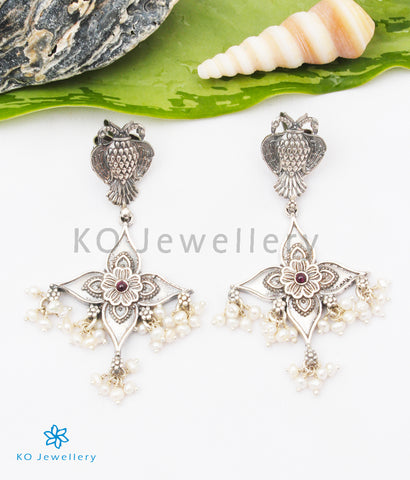 The Aadya Silver Gandaberunda Earrings