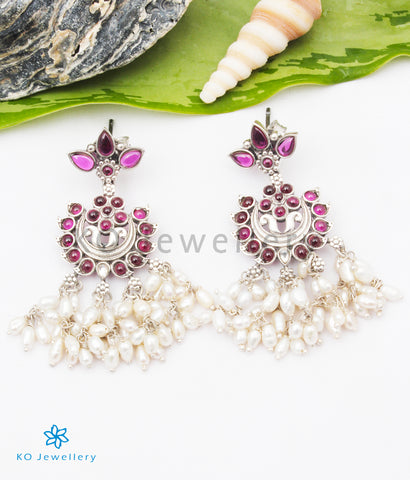 The Nihal Silver Pearl Earrings