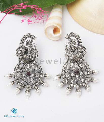 The Anbini Silver Peacock Earstuds