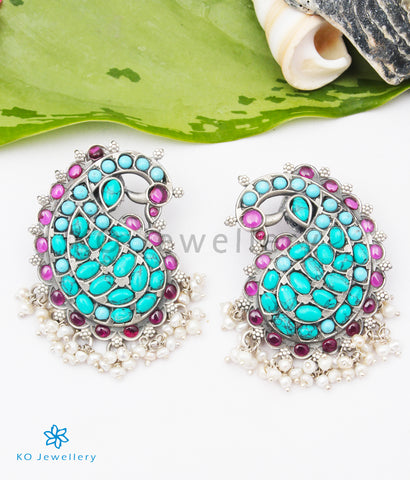 The Anika Silver Peacock Earstuds