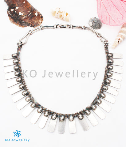 The Chaya Silver Tribal Necklace