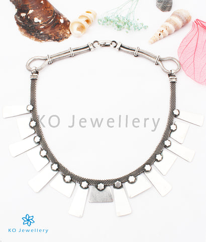 The Kamna Silver Tribal Necklace