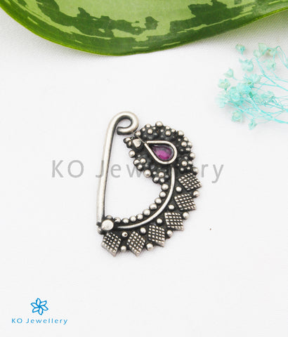 The Tattva Silver Nath/Nose Pin (Pressing/Clip On)