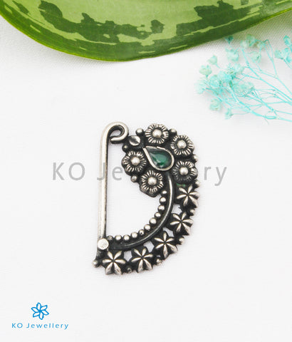The Niyamya Silver Nath/Nose Pin (Pressing/Clip On)