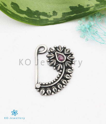 The Sujati Silver Nath/Nose Pin (Pressing/Clip On)