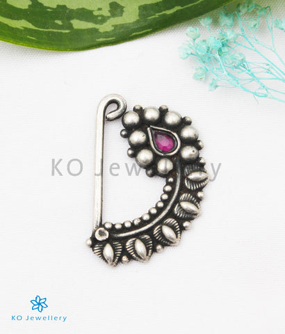 The Shriya Silver Nath/Nose Pin (Pressing/Clip On)