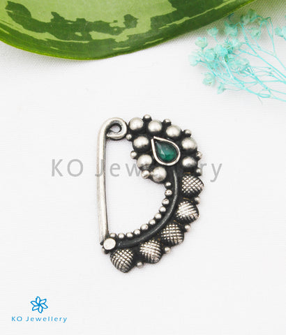 The Samhat Silver Nath/Nose Pin (Pressing/Clip On)