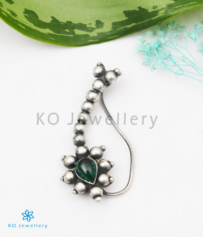 The Nritya Silver Nath/Nose Pin (Piercing)