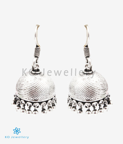 The Ukta Silver Jhumka (Oxidised)