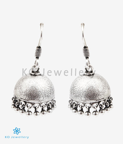 The Arya Silver Jhumka (Oxidised)