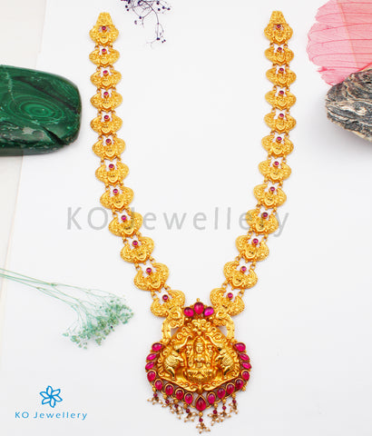 The GajaLakshmi Silver Nakkasi Necklace