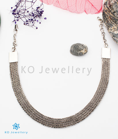 The Lekha Silver Flat Chain (Oxidised)
