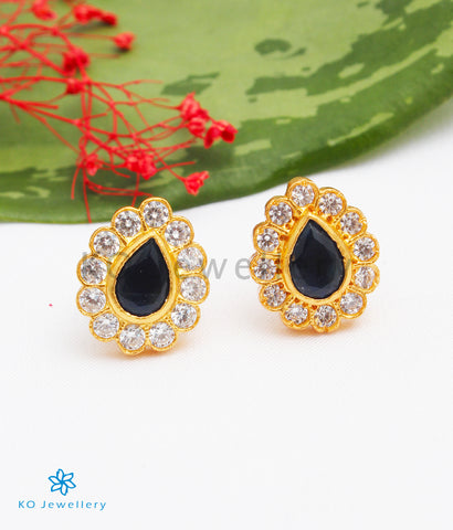 The Deeti Silver Earstuds (Blue)