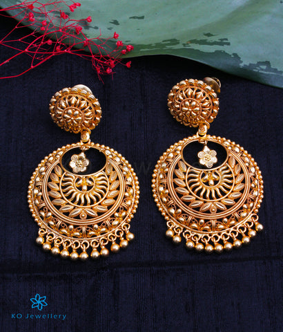 The Kritika Silver Chand-Bali Earrings