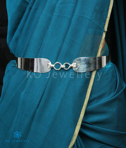 The Shringara Silver Oddiyanam Waist belt (Plain)
