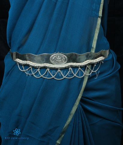 The Shreeja Silver Oddiyanam Waist belt (Plain)