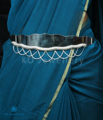 The Prahara Silver Oddiyanam Waist belt (Plain)