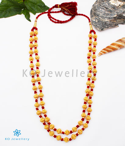 The Vaishnavi Jomale Silver Necklace (Red/Two layers)