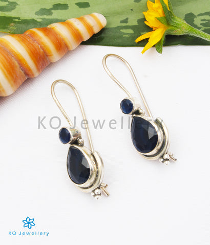 The Kyra Silver Gemstone Earrings (Blue)