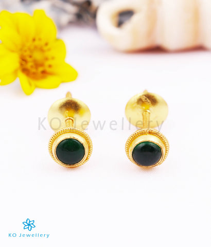 The Vivita Silver Ear-studs (Green)