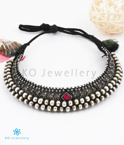The Shavya Silver Maharastrian Tussi Necklace