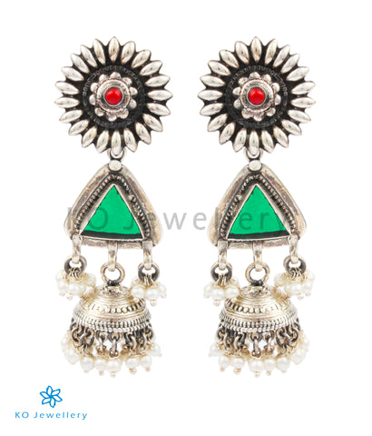 The Misha Silver Jhumka