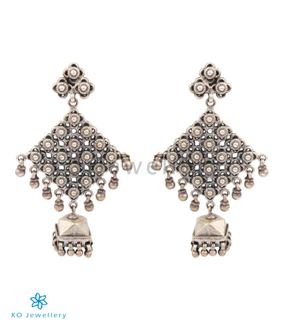 The Arshia Silver Jhumkas