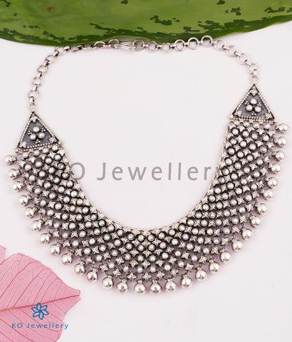 The Urmika Silver Pearl Necklace (5 layers)
