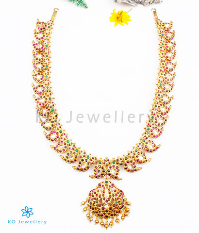 The Urvashi Silver Manga Malai Necklace